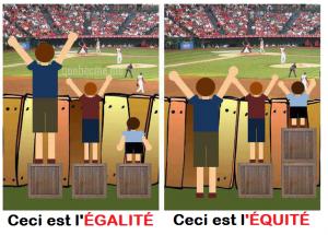 Égalité vs équité